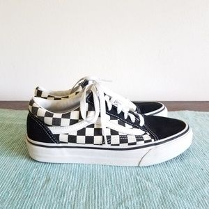 VANS Old School Blk/Wht Check 7.5 Barely used!